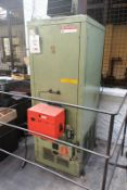 Powermatic oil fired space heater, model CP0150, serial no. H15FM188, max heat output 44kw (150,