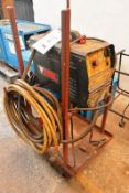 Stel Thor 63 plasma cutter, serial no. AL-241630 with gun and trolley stand (out of commission)...