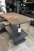 Steel frame, twin shelf table, approx 1400 x 750mm (Recommended collection period for this lot