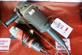 Bosch 230mm electric angle grinder and 115mm electric angle grinder, 240 volts (Recommended