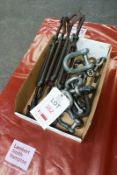 Assorted D hooks, adjustable hooked connectors (Recommended collection period for this lot Wednesday