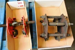 Two crane gantry runners (plain trollies) (Recommended collection period for this lot Wednesday 15th