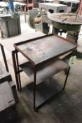 Two various steel side tables, approx max length 840mm (Recommended collection period for this lot