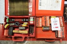 Two boxes of Hilti consumable fittings and Hilti DX100L tool (Recommended collection period for this