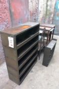 Five various steel storage cabinets/tables (Recommended collection period for this lot Wednesday