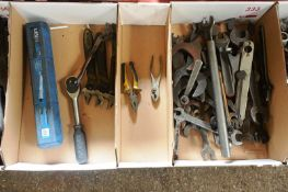 Assorted spanners, medium and assorted hand tools (Recommended collection period for this lot