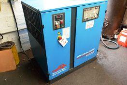 Worthington Creyssensac Rollair 2000 packaged rotary screw air compressor set, type RLR 2000 AE7,