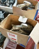 Two pneumatic hand spray guns with spare heads (Recommended collection period for this lot Wednesday