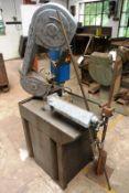 MEP PH/60 mitre cabinet base horizontal bandsaw, serial no. 140495/16 (2003) manual vice (Please