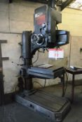 """Qualters & Smith R3 radial arm drill, serial no. 1100, 50 - 1750 rpm spindle speeds, 36"""" swing"""