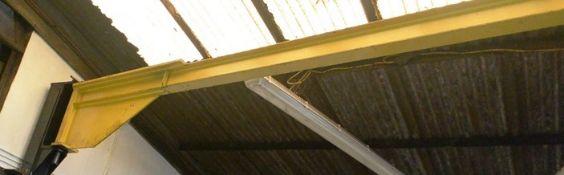 Swivel pillar jib arm crane frame, 250kg capacity, 3m swing x 3.4m high (Please note: A work