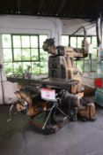 Cincintatti horizontal milling machine, with twin swivel vertical head and power over arm, model no.
