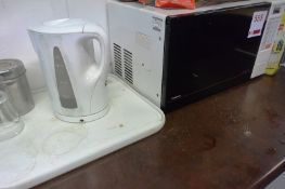 Goodmans microwave oven and Brandt undercounter fridge