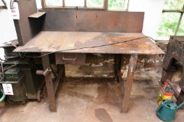Steel workbench, approx 1600 x 750mm (Recommended collection period for this lot Wednesday 15th -