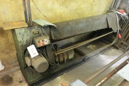 """Buxton 80"""" x 1/8"""" powered bending rollers, serial no. IP5749180 (Please note: A work Method"""