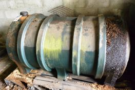 Plastic cylindrical fuel tank, 1700 x 950mm (Recommended collection period for this lot Wednesday