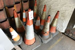 Eleven assorted traffic cones (Recommended collection period for this lot Wednesday 15th - Friday