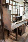 Steel workbench, approx 2750 x 600mm (Recommended collection period for this lot Wednesday 15th -