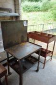 Two various steel frame tables (Recommended collection period for this lot Wednesday 15th - Friday