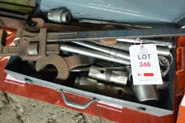Tool case and assorted large diameter spanners and sockets (Recommended collection period for this