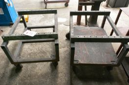 Two steel frame transport trollies, approx 1000 x 750mm (Recommended collection period for this