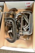 Assorted G clamps (Recommended collection period for this lot Wednesday 15th - Friday 17th September