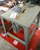 Unbadged 250mm saw bench, with adjustable guide, 240 volts (Recommended collection period for this