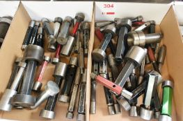 Three boxes and contents to incl. various imperial plug gauges (Recommended collection period for