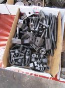 Box and contents to incl. various clamping nuts/bolts, etc. (Recommended collection period for
