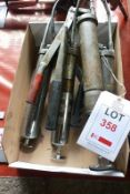 Assorted grease guns and socket spanners (Recommended collection period for this lot Wednesday