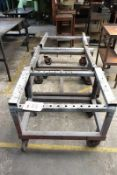 Three steel frame transport trollies, approx 1000 x 750mm (Recommended collection period for this