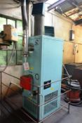 Powermatic oil fired space heater, model CPX045X/ERP, serial no. H4518D407697, max heat output 45kw,