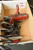 Pneumatic chain hoist (Recommended collection period for this lot Wednesday 15th - Friday 17th