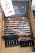 Draper boxed metric slip guage set, 1.001 - 100mm (completeness unknown) and two boxed various
