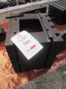 """Steel machine box table, 12"""" x 13"""" (Recommended collection period for this lot Wednesday 15th -"""