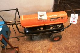 SIP Fireball XD mobile diesel space heater, model 125XD, serial no. TK30K/607/00077 (Recommended