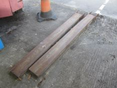 Steel set of forklift extensions, length 1880mm, width 150mm. This item has no record of Thorough...