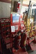 Fifteen mobile fire fighting stations (excludes all fire extinguishers)
