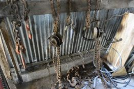 Quantity of lifting chains, chain blocks, etc. (sold as scrap). These items have no record of