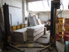Bradbury 2103, 2500kg post vehicle inspection lift, serial no. 210312546 (1989). NB: This item has