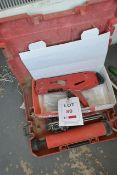 Hilti and Fischer various applicators, with carry case