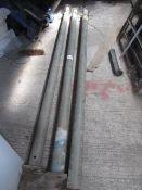 Three heavy duty 2700mm adjustable acrow props