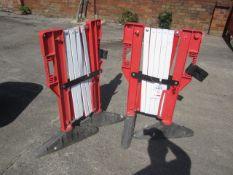 Two JSP expandable deterrent barriers