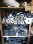 Quantity of assorted reeled Exmet reinforcement membrane, hand basin and pedestal, etc.