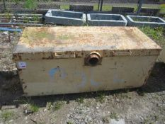 Steel framed tool store safe, approx. 1530 x 620 x 650mm