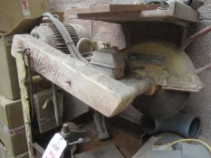 Clipper saw mounted on frame stand & Rapido horizontal bandsaw (for scrap or repair)