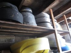 Assorted reeled damp proof course, reeled foam, etc.