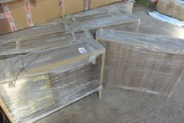 Approx. sixteen various timber effect bathroom wall cabinets