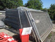 Two hundred and sixty Hera fencing panels, eleven 2100mm gates, twelve 1050mm gates, twenty three