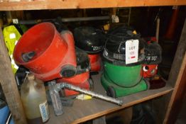 Contents of shelf (total of one bay) to include various hoovers and spare hoover parts